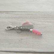 sleutelhanger tag klein roze