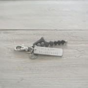 sleutelhanger tag zwart