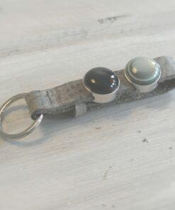sleutelhanger, grijs, foto, naam