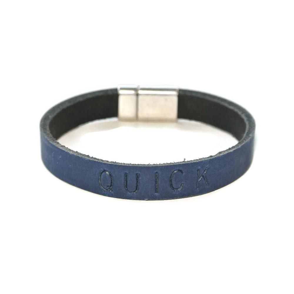 leren armband blauw