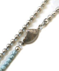 detail big ball chain blauw