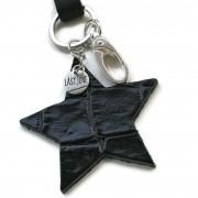 sleutelkoord zwart ster