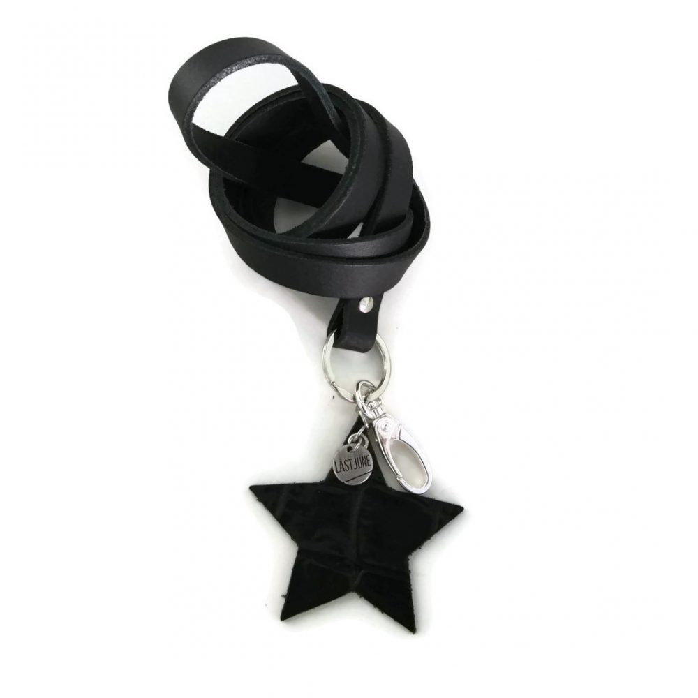 keycord ster zwart