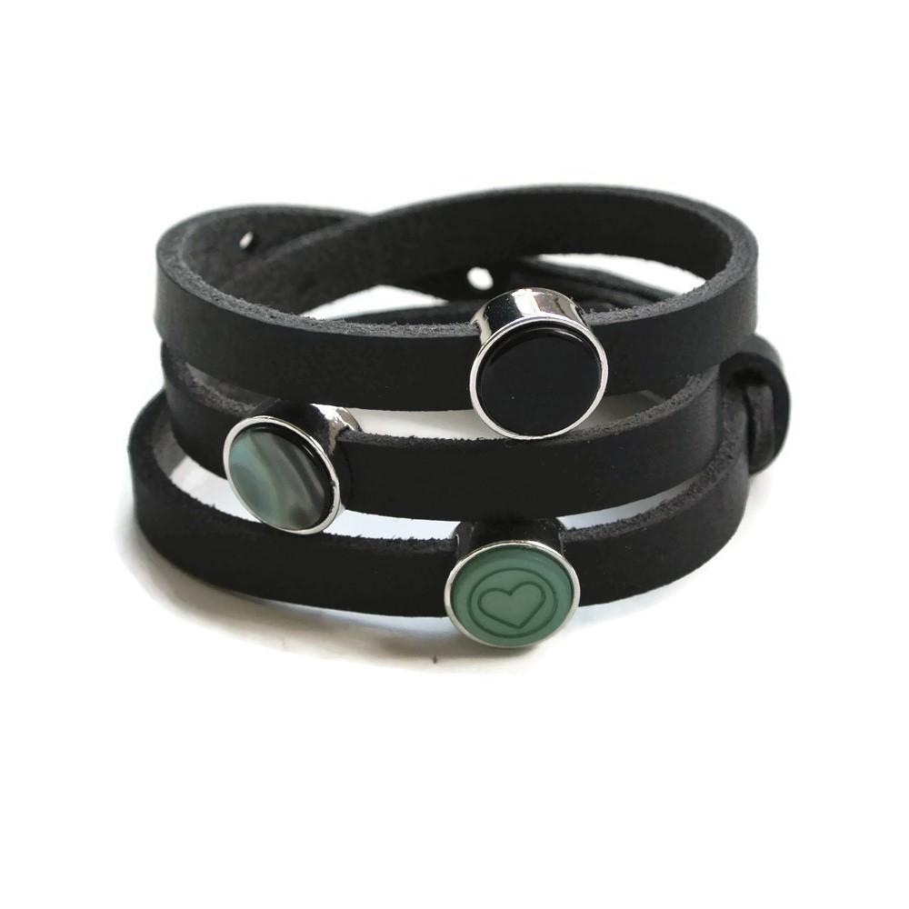 wikkelarmband zwart