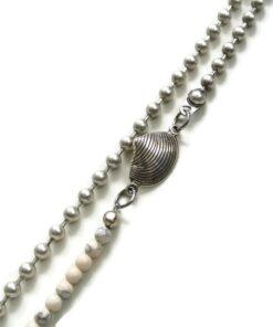 schelp detail big ball chain ketting