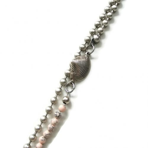 detail big ball chain roze ketting