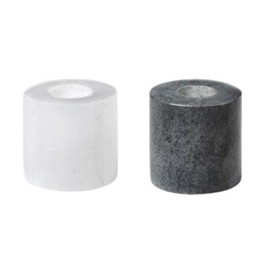 Broste kandelaar grijs en wit